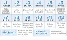 12 Cell Salts Chart The Importance Of Cell Salts Hyland S Homeopathic