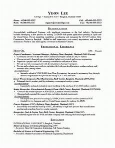 Process Engineering Resumes Process Engineer Resume