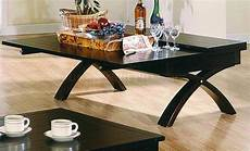 Foldout Table Dark Brown Contemporary Cocktail Table W Fold Out Table Top