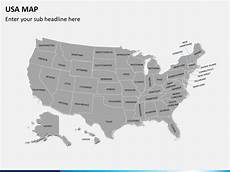 Us Map Ppt Powerpoint Usa Map United States Map Ppt Sketchbubble
