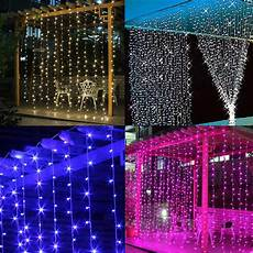 Led Light Curtains Sale 9 8ft Led Window Curtains String Fairy Light Christmas