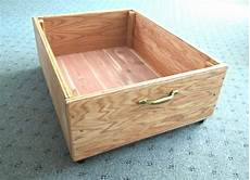 bed storage 8 inch drawer on wheels clear lacquer