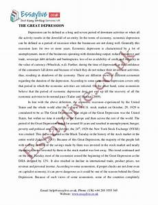 Causes Of The Great Depression Essay Great Depression Essay Sample