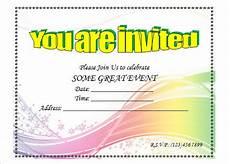 Invitation Software Free Download Birthday Invitation Template 48 Free Word Pdf Psd
