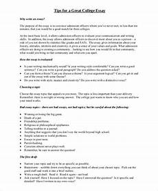 Samples Of College Essays Free 8 Sample College Essay Templates In Ms Word Pdf