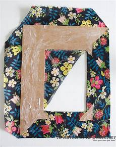 how to make a fabric covered photo frame diy photo frame