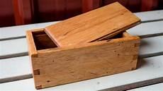 a rustic wood storage gift box diy