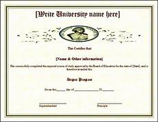 Fake Course Certificate Fake Degree Course Completion Certificate Template Free