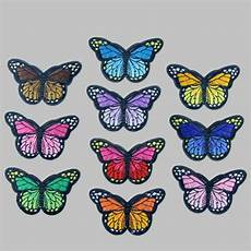 10 embroidery butterfly sew on patch badge embroidered