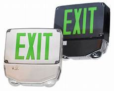 Location Exit Light Combo Led Location Combo Exit Sign Green Letter 866 637 1530