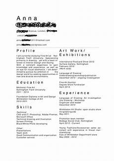 Art Resume Sample Fine Artist Cv Artist Resume Artist Cv Creative Cv