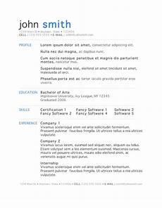 Microsoft Resume Templates Word 7 Free Resume Templates