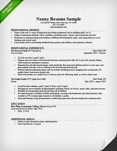 Nanny Resume Objective Sample Nanny Resume Sample Amp Writing Guide Resume Genius
