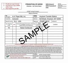 Bill Of Loding Bill Of Lading Bl Or Bol With Examples 2019 Tfg Free