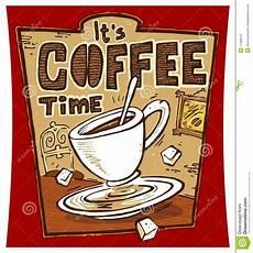 kaffe plakat kaffee zeit plakat stock abbildung illustration