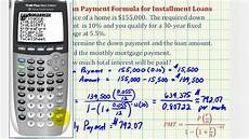 How To Calculate Mortgage Loan Ex 1 Find A Monthly Mortgage Payment With A Down Payment