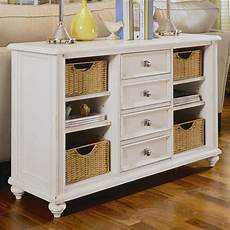 hammary camden light 4 drawer console table in white 920 925
