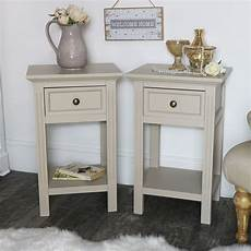 pair of slim bedsides daventry taupe grey range melody