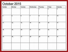 October 2015 Calendar Word Word Calendar Template 2017 Cyberuse