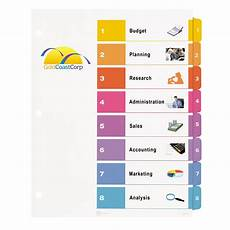 Tab Divider Template Word Word Template Divider Tabs The Best Free Software For