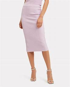 lavender rib knit pencil skirt