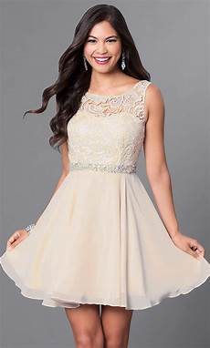 a line lace bodice homecoming dress promgirl