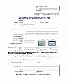 Credit Card Charge Authorization Sample Credit Card Authorization Form 8 Examples In
