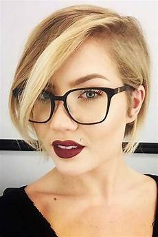 kurzhaarfrisuren rundes gesicht brille how to choose glasses for hair and shape