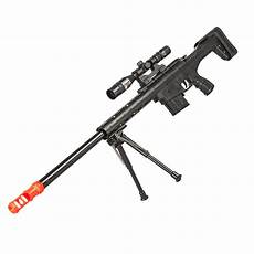 250 fps airsoft sniper rifle gun with laser scope