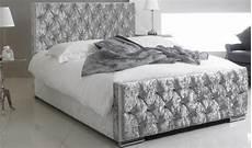 silver crushed velvet bed 4ft 6in