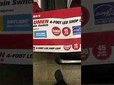 Hyper Tough Led Shop Light Hyper Tough 4 Foot Led Shop Light Youtube
