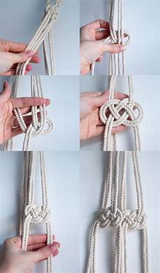 diy macrame hanging planter likely by sea