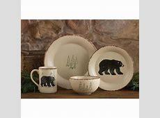 Rustic Bear Crockery Dinner Plates and Mugs   Olde Glory