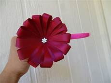 How To Fold Ribbon How To Make Ribbon Flower In 5 Minutes Youtube