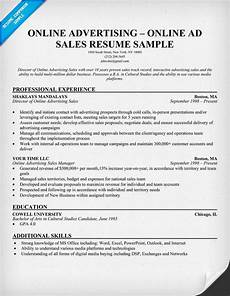 Advertising Sales Resume Samples Online Advertising Online Ad Sales Resume
