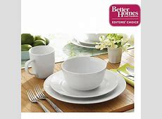 Better Homes and Gardens 16 Piece Porcelain Round Rimmed