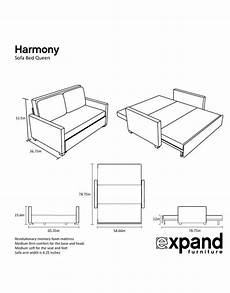 Sofa Bed Size 3d Image by Harmony Size Memory Foam Sofa Bed Expand