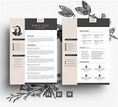 Cover Page Of Cv Professional Cv Template Business Card 2 Page Cover