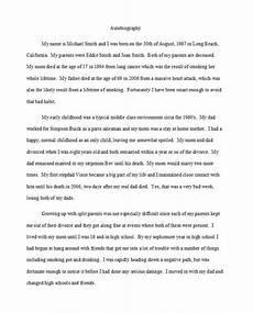 College Autobiographical Essay Example 40 Autobiography Examples Autobiographical Essay