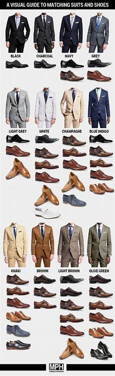 Suit Color Matching Chart How To Pick Shoes For Every Color Suit Business Insider