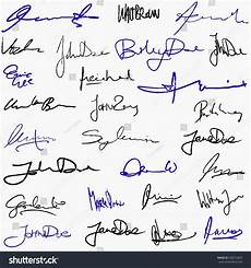 Handwritten Signature Collection Handwritten Signatures Personal Contract