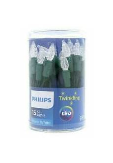 Philips 30ct Christmas Battery Operated Led Dewdrop Fairy String Lights Philips 30ct Christmas Led Dewdrop Lights Battery Operated