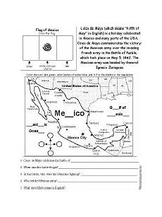 cinco de mayo read and answer worksheet