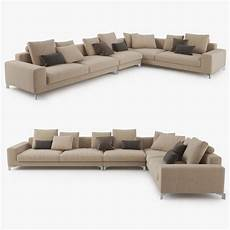 Tiny Sectional Sofa 3d Image by Busnelli Take It Easy Sectional Sofa 3d Cgtrader