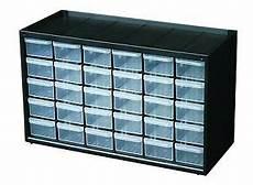 30 drawer parts storage cabinet garage craft tools plastic
