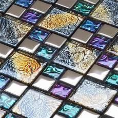 wall tile for kitchen backsplash iridescent glass mosaic tile brick plating glass