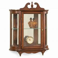 westbrook wall mounted curio cabinet plantation cherry