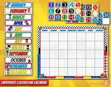 November Calendar Decorations Superhero Classroom Calendar Pre School Classroom