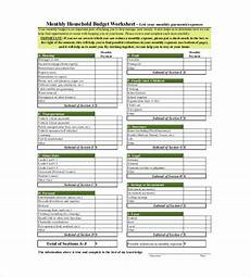 Houshold Budget 13 Household Budget Templates Free Sample Example