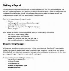 Report Writing Format Download Free 34 Sample Report Writing Format Templates In Pdf